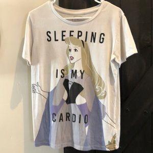 Sleeping Beauty sleeping is my cardio shirt